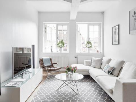 客厅北欧风格效果图大全2017图片_土拨鼠精致休闲客厅北欧风格装修设计效果图欣赏