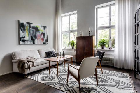 客厅北欧风格效果图大全2017图片_土拨鼠豪华写意客厅北欧风格装修设计效果图欣赏