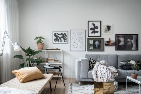 客厅北欧风格效果图大全2017图片_土拨鼠潮流质感客厅北欧风格装修设计效果图欣赏