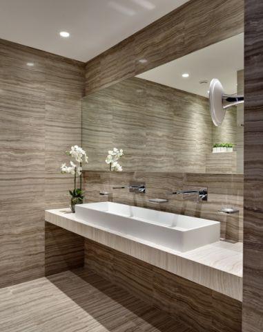 浴室现代风格效果图大全2017图片_土拨鼠温馨个性浴室现代风格装修设计效果图欣赏