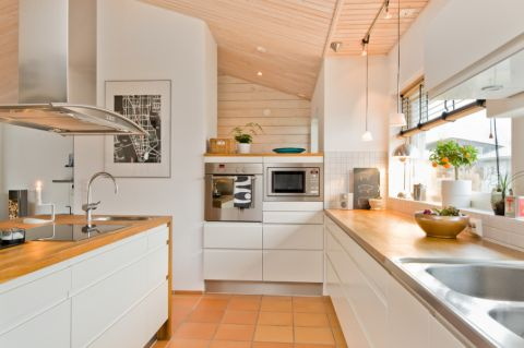 厨房北欧风格效果图大全2017图片_土拨鼠时尚舒适厨房北欧风格装修设计效果图欣赏