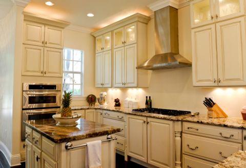 厨房简欧风格效果图大全2017图片_土拨鼠优雅优雅厨房简欧风格装修设计效果图欣赏