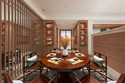 2020现代中式120平米装修效果图片 2020现代中式三居室装修设计图片