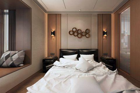 现代卧室飘窗装潢实景图