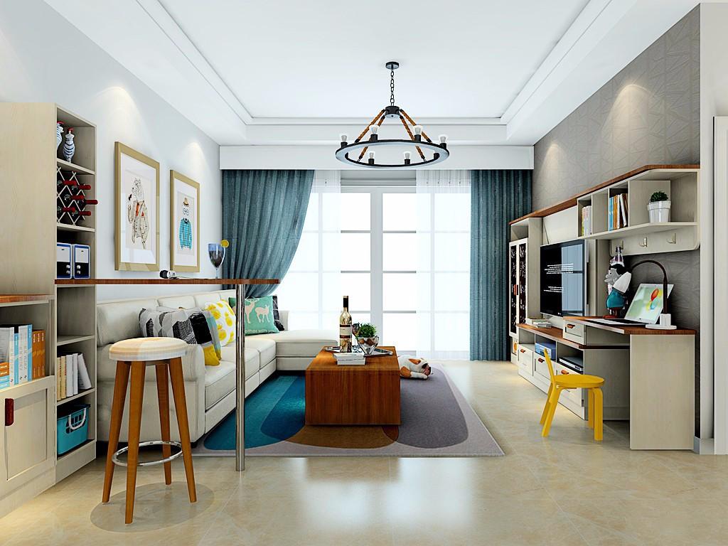 3室1卫1厅98平米简约风格