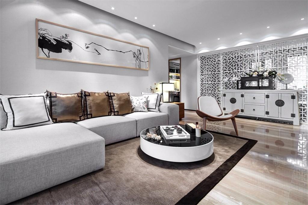3室2卫2厅90平米新中式风格