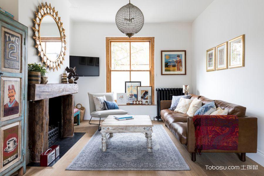 客厅白色窗台混搭风格装修效果图