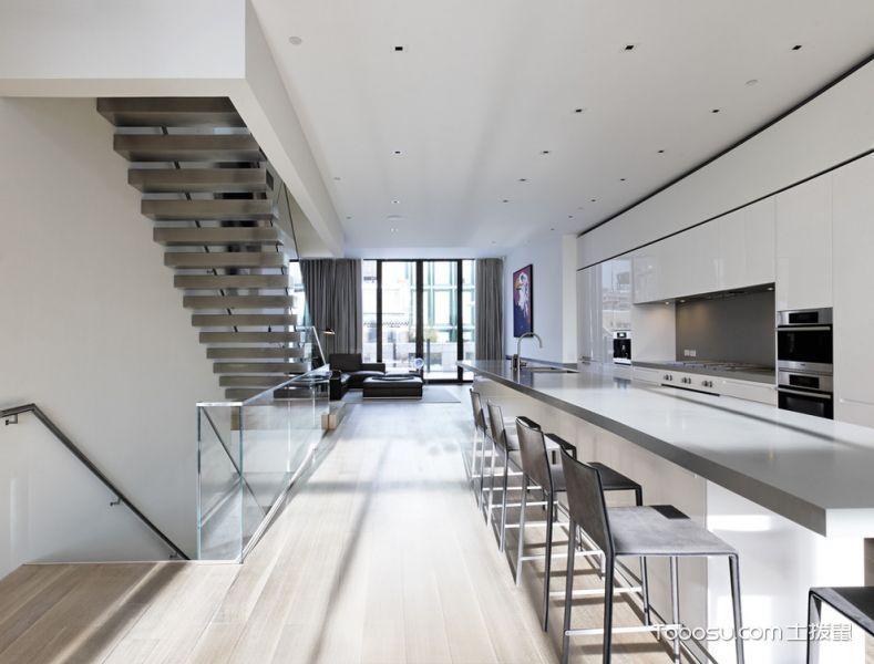 2019现代厨房装修图 2019现代楼梯装修效果图片
