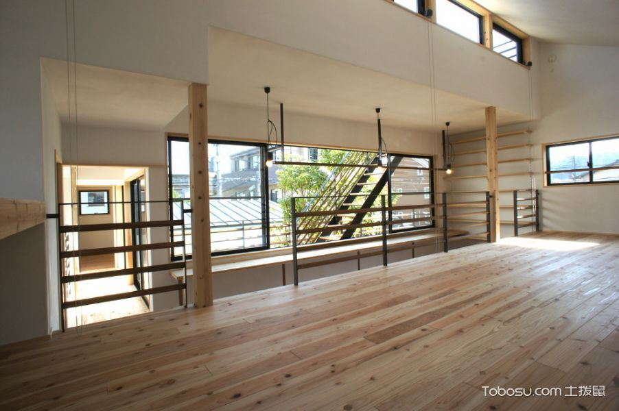 楼梯日式风格效果图大全2017图片_土拨鼠豪华创意楼梯日式风格装修设计效果图欣赏