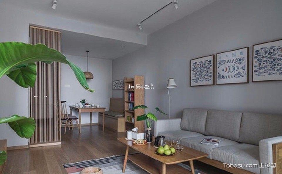 弘阳广场90平日式三居室装修效果图