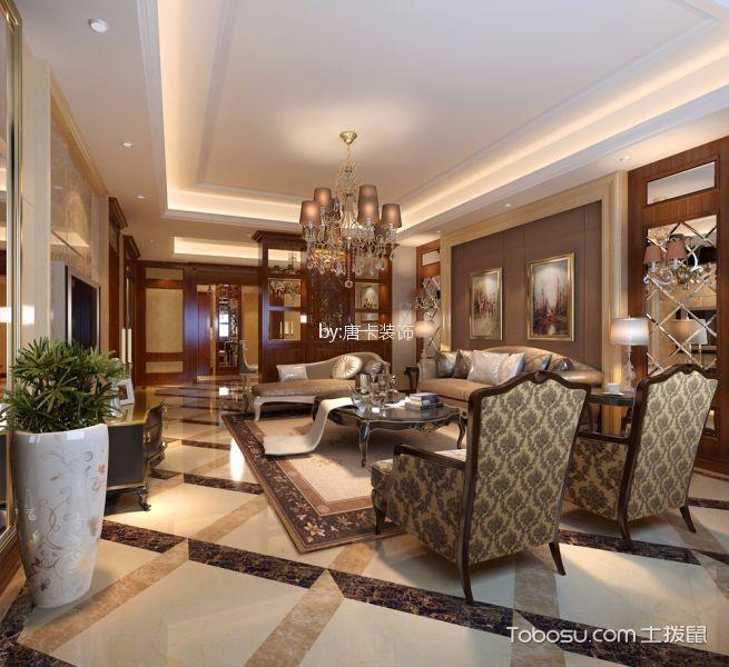 招商江湾城150平美式四居室装修效果图
