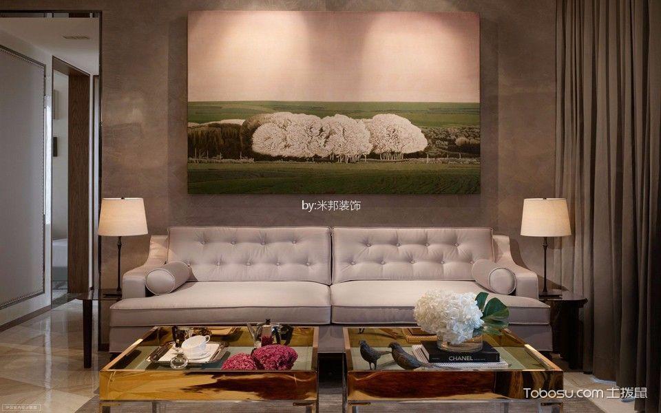 白马公馆127平现代风格三居室装修效果图
