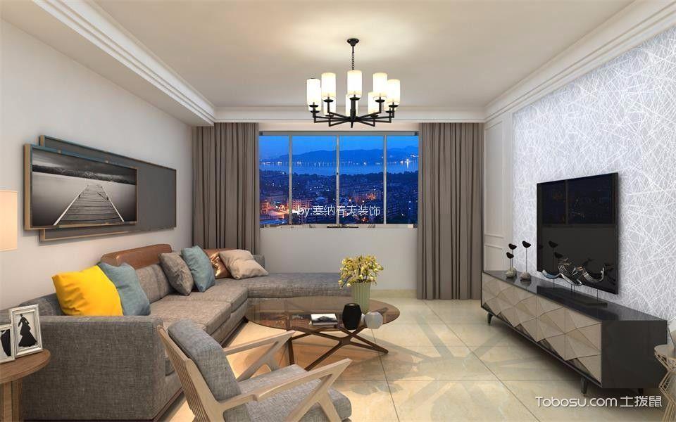 南湖颐心园2号楼简约风格110平米三居室装修效果图