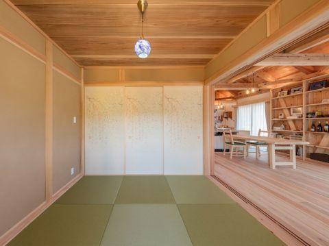 客厅日式风格效果图大全2017图片_土拨鼠典雅舒适客厅日式风格装修设计效果图欣赏