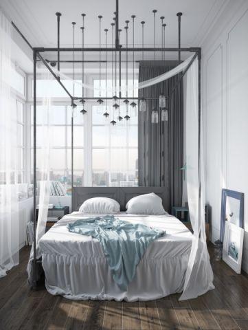 卧室北欧风格效果图大全2017图片_土拨鼠唯美个性卧室北欧风格装修设计效果图欣赏