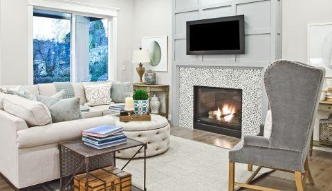 客厅沙发简欧风格装饰图片
