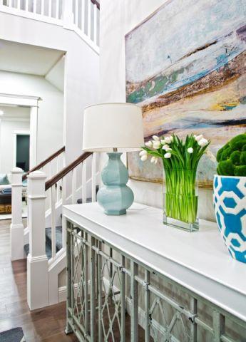 客厅楼梯简欧风格装潢图片