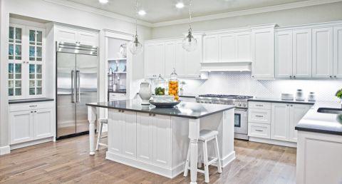 厨房厨房岛台简欧风格装修设计图片