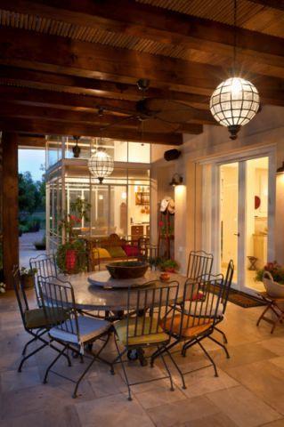 阳台灯具地中海风格装饰图片