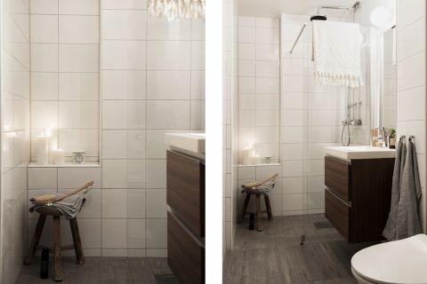 浴室洗漱台北欧风格装饰效果图
