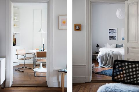 卧室地板砖北欧风格装潢效果图