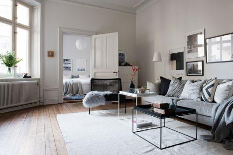 客厅推拉门北欧风格装修设计图片