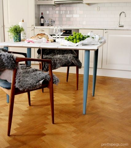 厨房地板砖北欧风格装潢设计图片