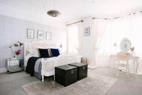 卧室简欧风格效果图大全2017图片_土拨鼠完美创意卧室简欧风格装修设计效果图欣赏