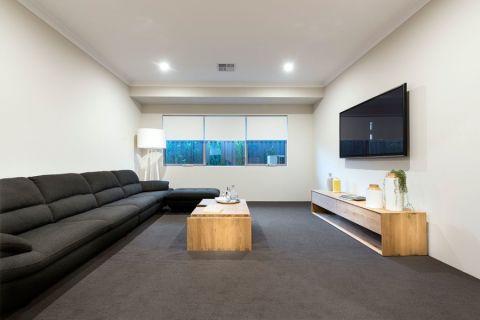 客厅地板砖北欧风格装潢效果图