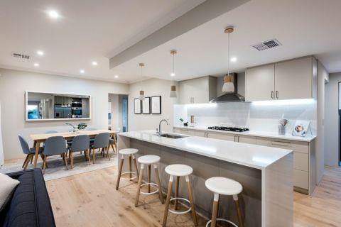 厨房吧台北欧风格装潢图片