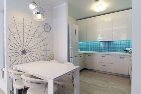 厨房北欧风格效果图大全2017图片_土拨鼠优雅个性厨房北欧风格装修设计效果图欣赏