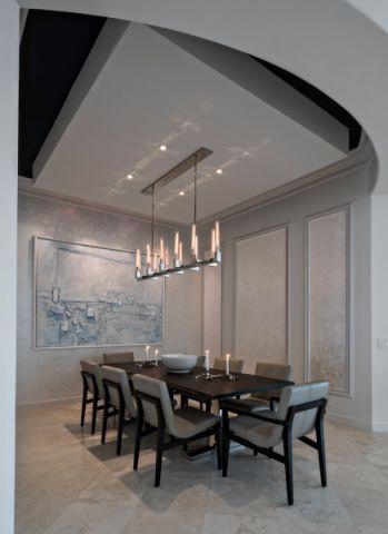 餐厅灯具现代风格装潢图片