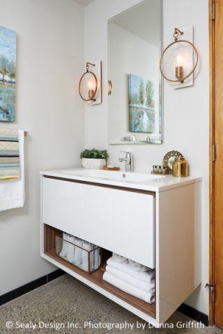 浴室洗漱台北欧风格装修设计图片