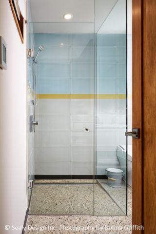 浴室隔断北欧风格装饰设计图片