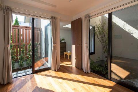 客厅背景墙日式风格装修图片