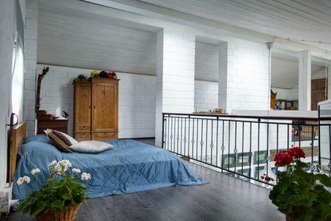 卧室背景墙北欧风格装潢设计图片