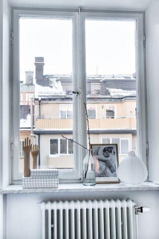 卧室窗台北欧风格效果图
