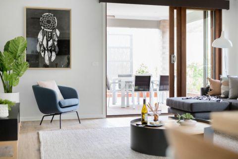 客厅白色沙发北欧风格装饰效果图