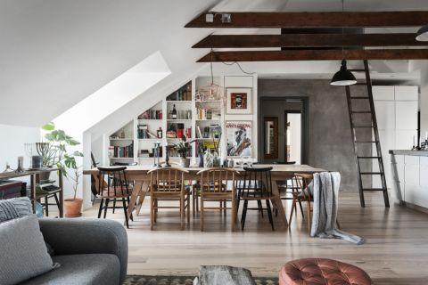 北欧餐厅餐桌家装设计图