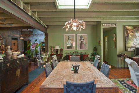 餐厅混搭风格效果图大全2017图片_土拨鼠唯美迷人餐厅混搭风格装修设计效果图欣赏