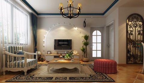 华建雅筑地中海风格三居室120平米装修效果图