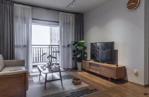 客厅电视柜日式风格装潢效果图