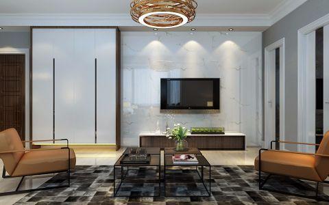 华清苑130平米现代简约风格三居室装修效果图