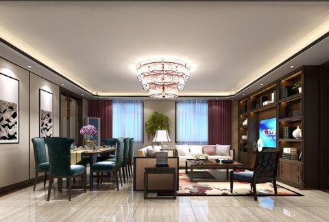 天竺家园143平米三居室新中式风格装修效果图