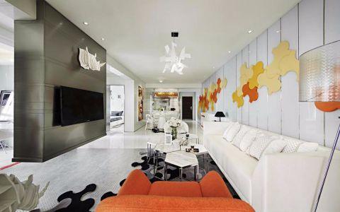 110平米现代风格三居室新房装修效果图