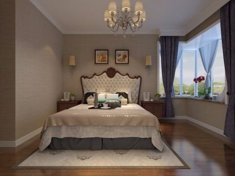 卧室飘窗美式风格效果图