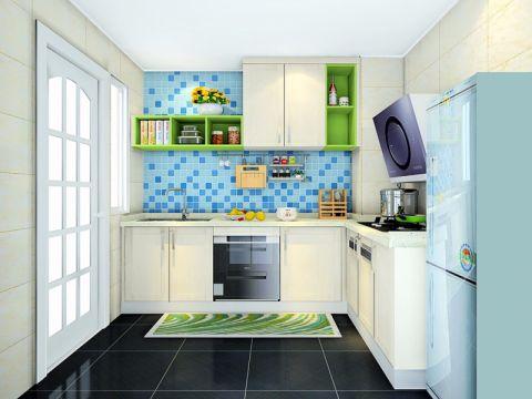 厨房厨房岛台简约风格装修设计图片