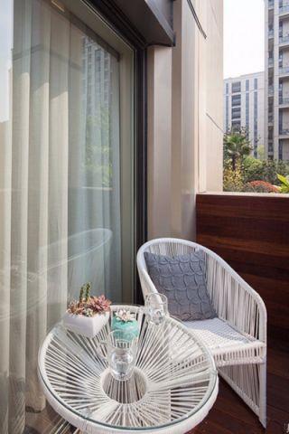 阳台窗帘现代简约风格装饰图片