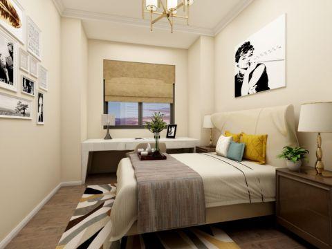 客厅书桌美式风格装饰图片