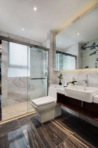 卫生间地板砖新中式风格装修效果图